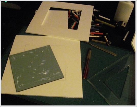 Cadre photo papier cartonn conception carte lectronique cours - Fabriquer un cadre en carton ...