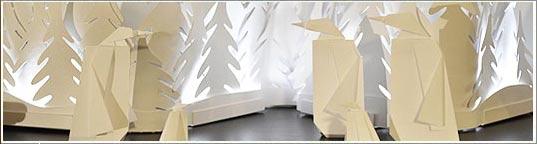 Pin une id e de cr che en papier faire avec les enfants - Comment faire une creche de noel en papier ...