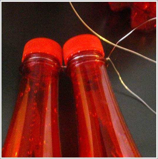 R aliser une lampe bouteille - Deco de noel avec bouteille en plastique ...