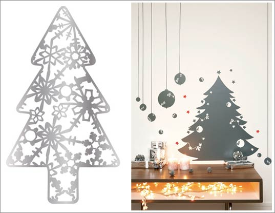 Stickers sapin d co de no l design - Creation decoration de noel ...