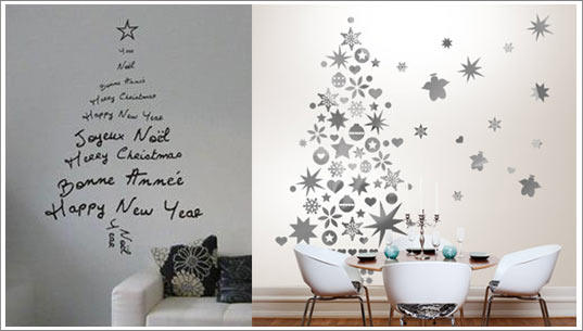 Stickers sapin d co de no l design - Decoration interieur de noel ...