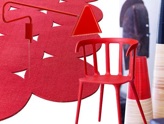 Objet decoration interieur rouge for Decoration interieur objet