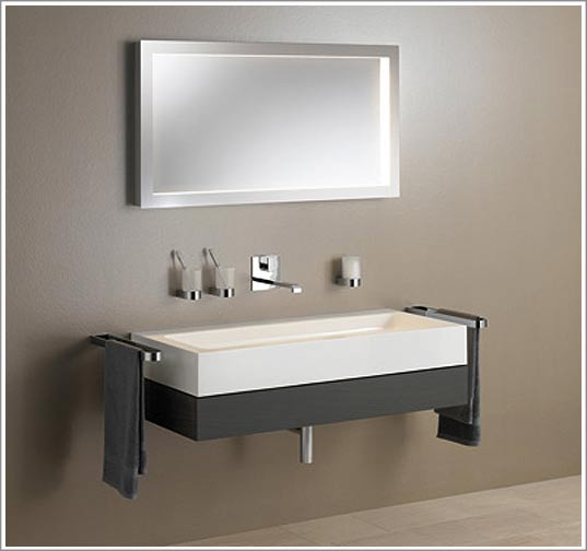 stunning miroir salle de bain lumiere integree images. Black Bedroom Furniture Sets. Home Design Ideas