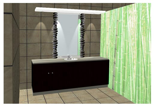 Déco salle de bain.