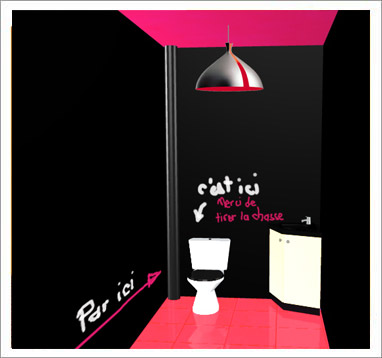 D co toilettes et wc - Idee toilette originale ...